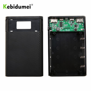 Image 5 - kebidumei 5V Dual USB 4X 18650 Power Bank Case Kit With Digital Display Screen Mobile Phone Charger DIY Shell For Smart Phones