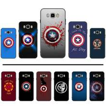 Marvel Captain America sign mark Silicone Phone Case For Samsung Galaxy J2 J4 J5 J6 J7 J8 2016 2017 2018 Prime Pro plus Neo duo(China)