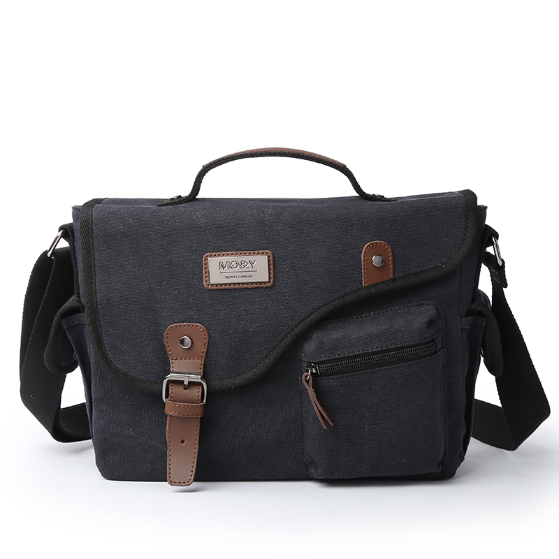 TANGHAO Canvas Men Shoulder Bag Outdoor Business Male Messenger Bag Fashion Travel Handbag For School