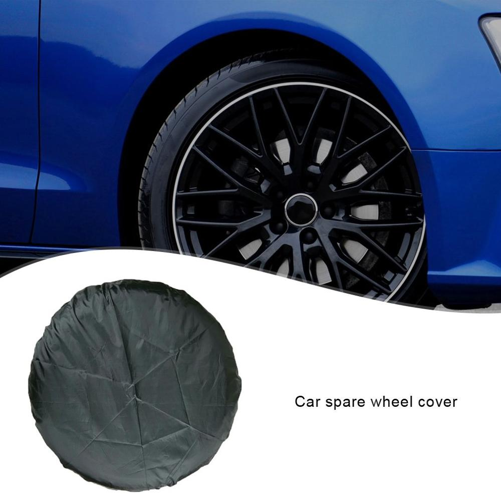 Silver L Black Grebest Car Tire Cover External Decoration Protective Cover Oxford Cloth Waterproof Universal Car Spare Tire Cover Tyre Wheel Storage Bag