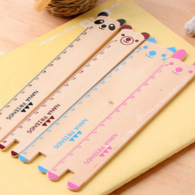 1pcs/lot Cute Animal Wooden Design Bookmarker Ruler Kids' Teenagers' Gift Bookmark Material Escolar