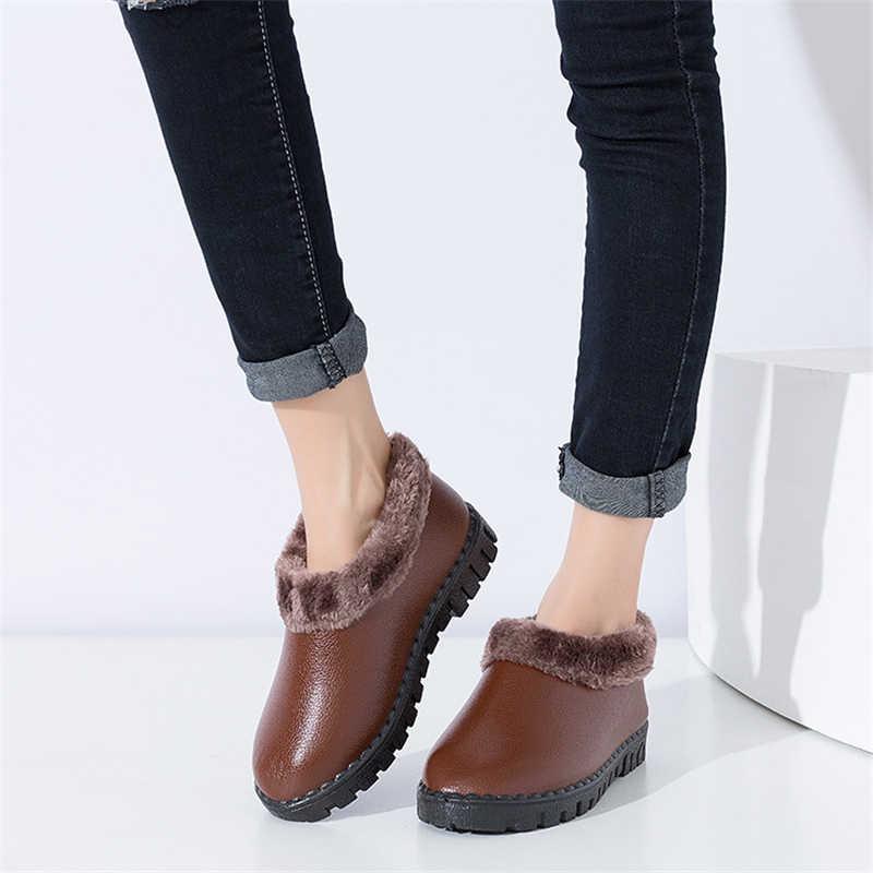 DORATASIA sıcak satış slip-on kış sıcak ayak bileği kar botları kadın 2020 platformu kürk botlar bayanlar rahat düşük topuk ayakkabı kadın