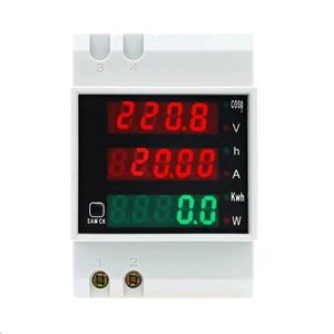 Image 1 - D52 2047 AC 80 300V 0 100A Su Guida Din LED Voltmetro Amperometro Tensione contatore di Energia Attiva del Fattore di Potenza Volt di Corrente multi funzione