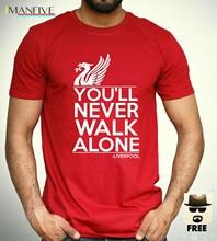 все цены на Liverpool T Shirt you'll never walk alone Football Fan Club YNWA Mens Gift Tee Comfortable t shirt,Casual Short Sleeve TEE онлайн