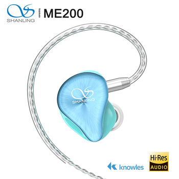 Shanling ME200 Hi-Res Hybrid Driver(Dual Dynamic+Knowles BA) In-ear Earphone with Furukawa MMCX Cable DLP 3D Printed shell 1