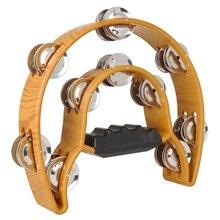 Ручной бубен ABS барабанный колокольчик двухрядный погремушка ударный музыкальный образовательный инструмент