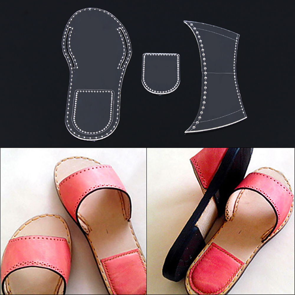Lychee Life Slipper Sewing Pattern Acrylic Leather Template DIY Handmade Leathercrafts Supplies