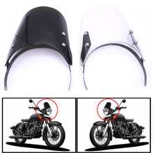 ROAOPP Motorcycle Windshield Windscreen Spoiler Wind Deflector Airflow Screen For Royal Enfield Classic 500CC