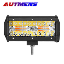 Autmens 1PCS Cube LED Work Light Bar dual color strobe flash Lamp  For Off-road 4X4 4WD Car SUV ATV Motorcycle