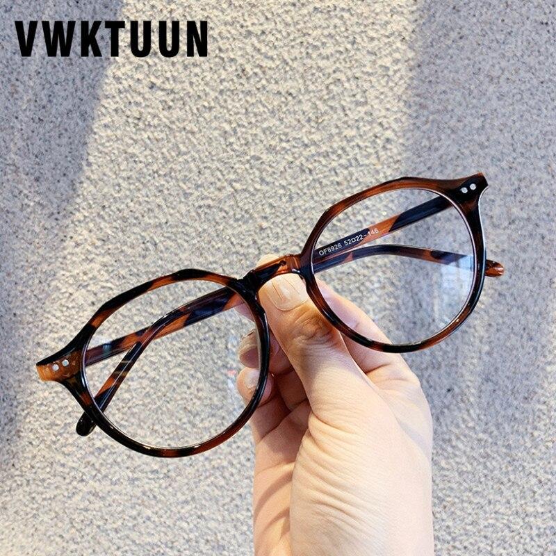 VWKTUUN Rivet Frame Vintage Optical Eyeglasses Frame Myopia Round Metal Men Women Spectacles Eye Glasses Oculos De Grau Eyewear