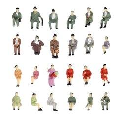 50pcs 1:87 Miniature Seated People Model Scene Character Figure for Diorama Railway Layout