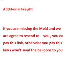 Pagamento adicional em seu pedido de envio ou outro serviço, nenhum produto, entre em contato com o vendedor antes de purcharse