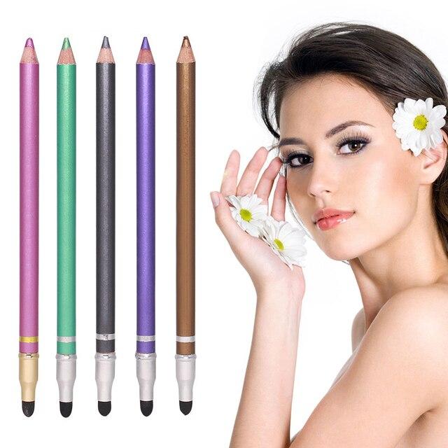 1 Pcs Color Long Lasting Eye Liner Pencil Waterproof Eyeliner Brush Smudge Proof Cosmetic Beauty Makeup Liquid Eye Shadow TSLM1 1