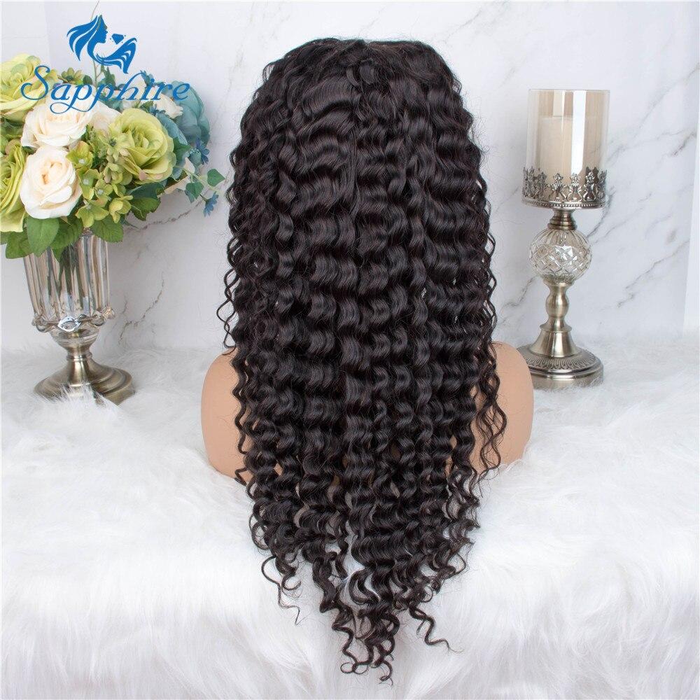 H372bb357594c43d8b359b145178ff241i Preplucked 360 Deep Part Lace Frontal Human Hair Wigs Density Brazilian Deep Water Wave Human Hair Wigs For Women Black