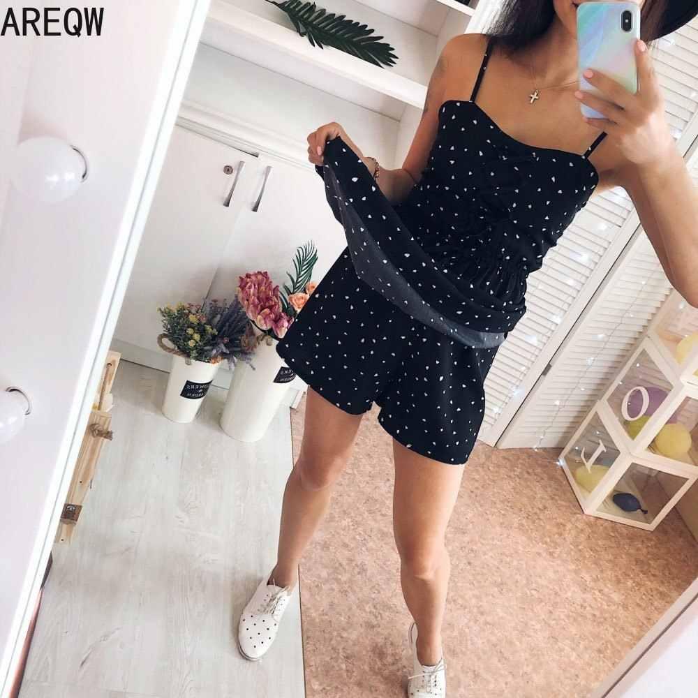 Frauen Sommerkleid Neue Pollka Dot Druck V-ausschnitt Taille Schwarz Kleid Mini Kleid Sommer