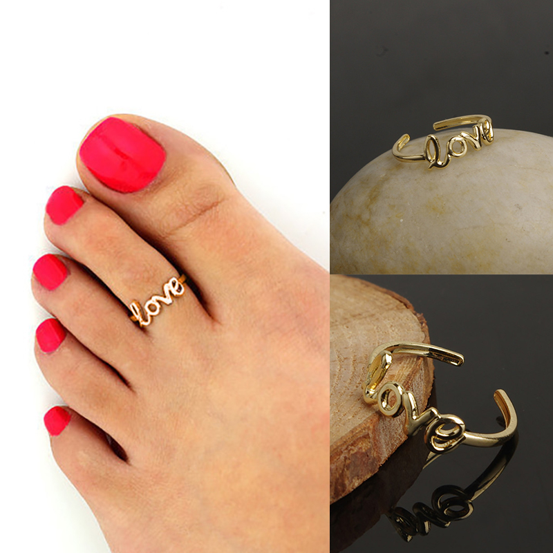 Love Ring Simple Adjustable Finger Pinkie Nail Foot Toe Findings Tiny Fashion Women Jewelry