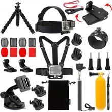Action Camera Accessories Kit for Gopro Hero 9 8 7 6 5 4 3 Head Strap Wrist Strap Mount Selfie Stick for SJCAM
