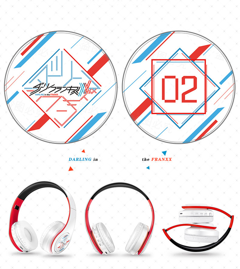 Anime Darling in the FranXX Wireless 2 in1 Bluetooth Headset Zero Two Cosplay Comfortable Stereo Foldable Gaming Headphones Gift 3