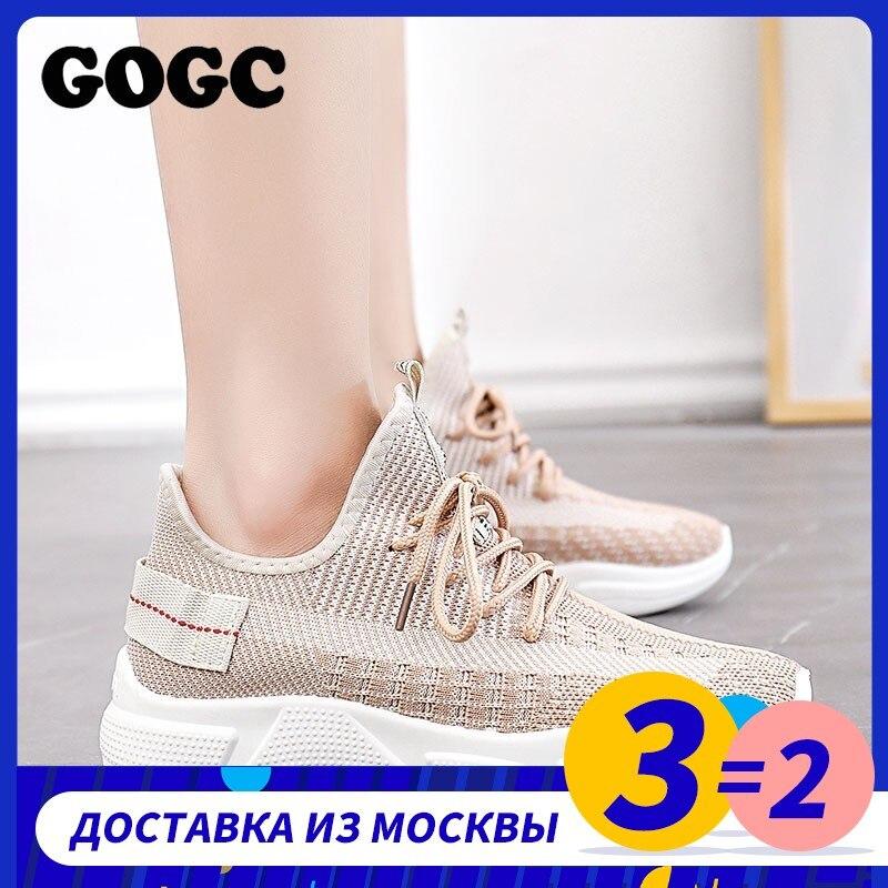 GOGC Summer Woman Sneakers  Female Platform Lace Up Causal Shoe For Women Basket Femme Ladies Flat Shoe 691