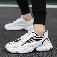 2019 New Fashion Shoes Men Harajuku Brand Dad Shoes Youth Boys Luminous Shoes Student Male White Sneakers Tenis Masculino Adulto