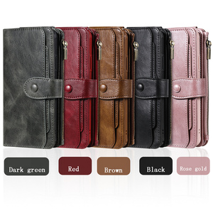 Image 5 - Luxury Multifunction Detached Wallet case For Samsung S20 Ultra Leather Flip Cover S8 S9 S10 E 5G Note 8 9 10 Plus Phone bag