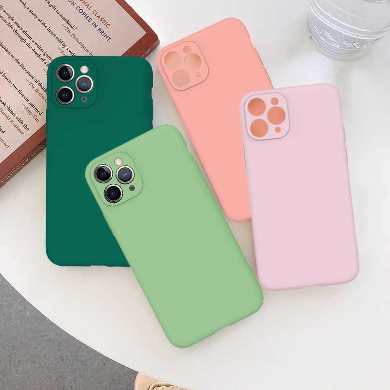 Cute Candy Color Matte Frosted Phone Case για iPhone 11 Pro Max 7 - Ανταλλακτικά και αξεσουάρ κινητών τηλεφώνων - Φωτογραφία 4