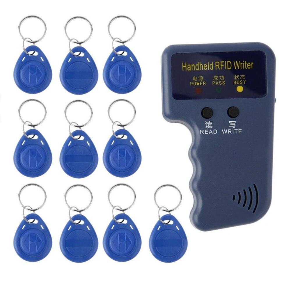 Handheld 125KHz RFID ID Card Duplicador Copiadora Escritor Leitor Programador Jogo EM4305 Gravável Keyfobs ID Tags Cartões de Chave de Cartão