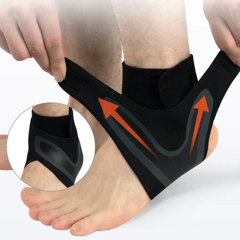 Cinta de apoio do tornozelo, elasticidade livre ajuste proteção pé bandagem entorse prevenção esporte fitness guarda banda esportes segurança