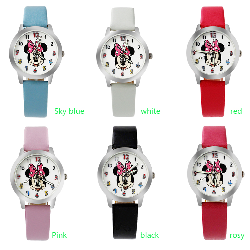 New 2019 Fashion Cool Cartoon Watch For Children Girls Leather Digital Watches For Kids Boys Christmas Gift Wristwatch