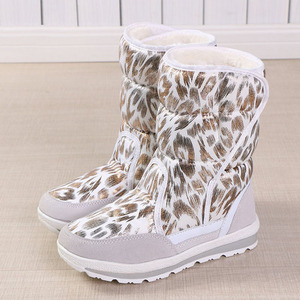 Image 2 - Women winter boots platform non slip waterproof winter shoes women ankle boots thick fur warm women snow boots for  40 degrees