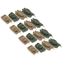 16 Buah 4D Tank Model 1/144 Semprot Selesai Tank Ornamen(China)