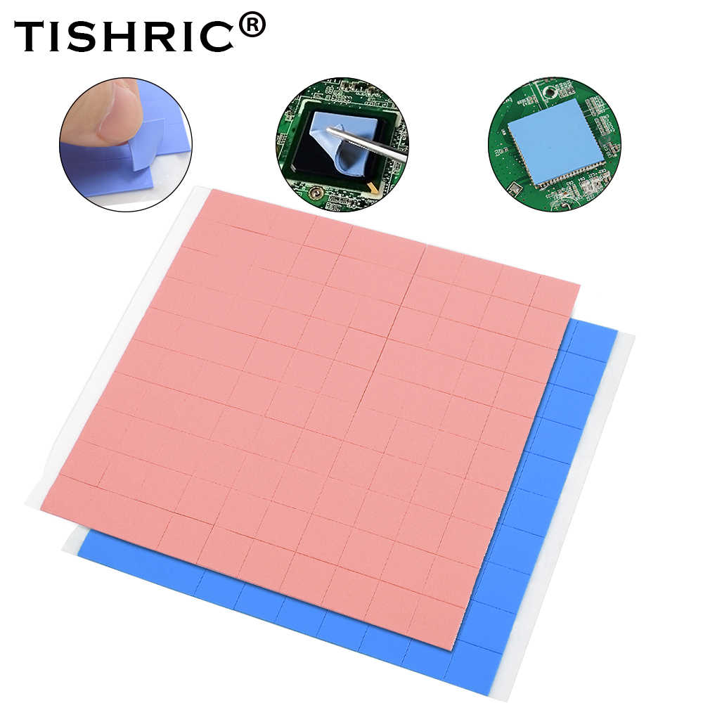 TISHRIC 10mm*10mm 100 pcs Thermal Pad Cooling Conductive Silicone Pad CPU Thermal Pads heatsink heat sink Grease Paste Adhesive