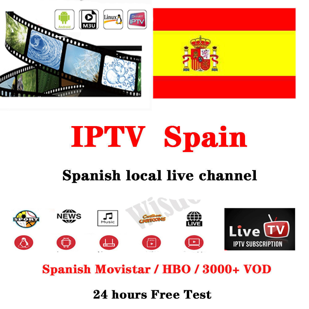 Spain IPTV Suscripcion M3U IPTV Full HD Espana Local Live VOD DAZN Movistar Sport Cinema Support GSE Android Enigma2 Smart IPTV
