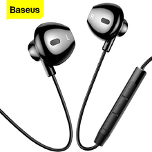 Baseus Wired Earphone In Ear Headset With Mic Stereo Bass Sound 3.5mm Jack Earphone Earbuds Earpiece For iPhone Samsung Xiaomi