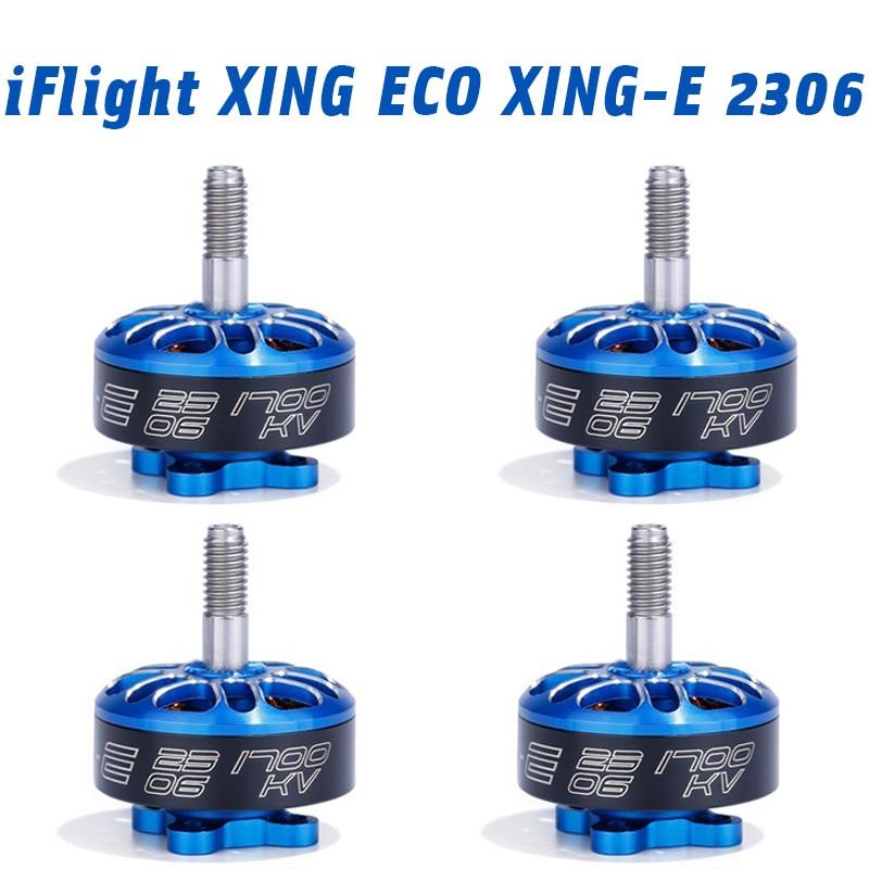 IFlight XING ECO XING-E 2306 1700KV 2450KV 2750KV 2-6S Brushless Motor For RC FPV Racing Drone Quadcopter Frame Kit