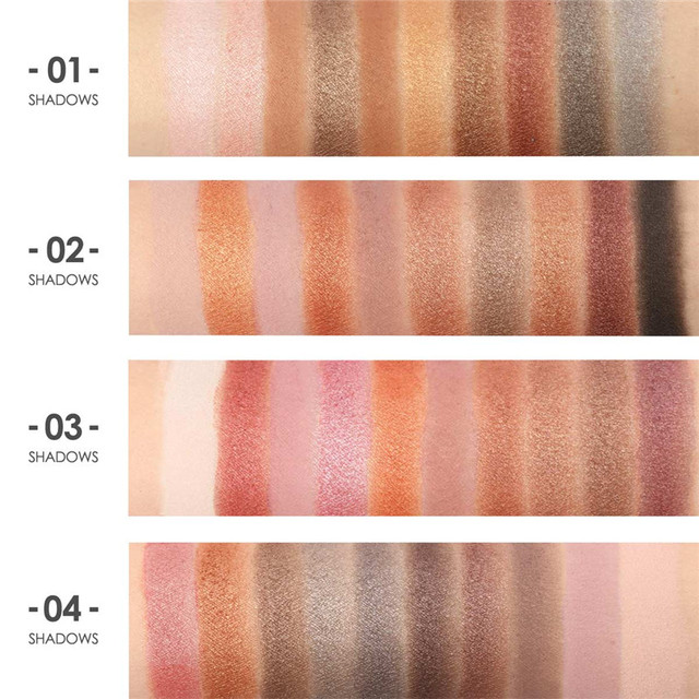 Focallure 10Pcs Makeup Palette Natural Eye Makeup Light Eye Shadow Makeup Shimmer Matte Eyeshadow Palette Set 4