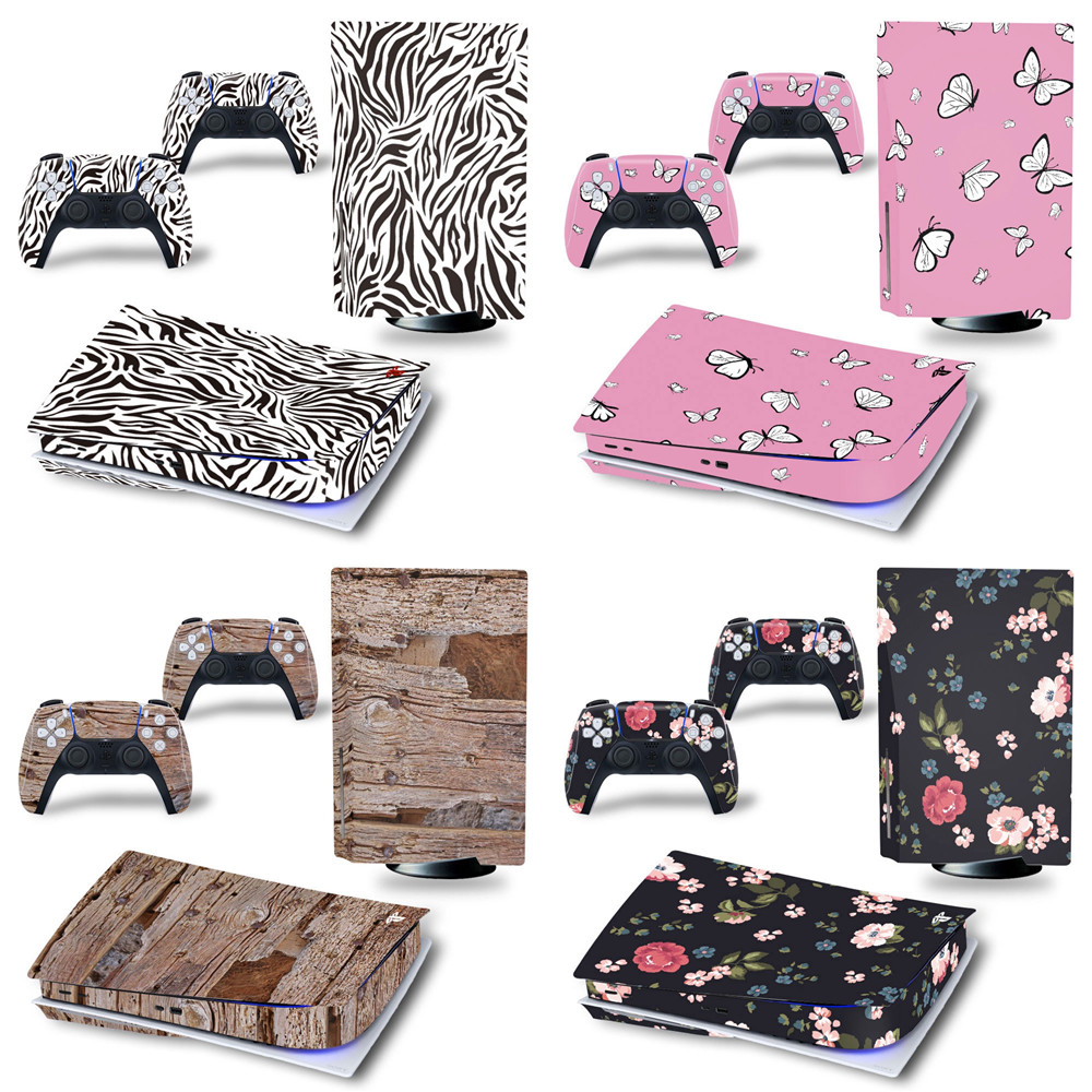 Camouflage Vinyl Decal Skin Sticker For PS5 Disk Controller Playstation5 Console Case controller skin sticker 1