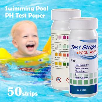 50pc chlor Dip paski testowe jacuzzi Spa basen Tester Ph papier wielofunkcyjny papier testowy Home SwimmingPool akcesoria tanie i dobre opinie CN (pochodzenie) Swimming Pool PH Tester Paper