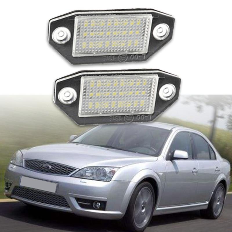 12V 24 светодиодный светильник номерного знака для Ford Mondeo MK3 2000-2007
