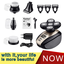 Razor-Shaver Hair-Trimmer Beard Shaving-Machine Electric Multifunction Kemei 5D Gift