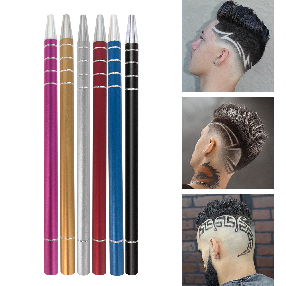 20Pcs Shaving Blades Hair Carving Pen Magic Hair Styling Eyebrows Beards Razor Salon DIY Engraved Razor Pen Hair Refined