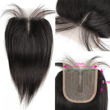 Bobbi Collection droite 4x1 dentelle fermeture naturel noir indien Remy cheveux humains partie moyenne 10-20 pouces
