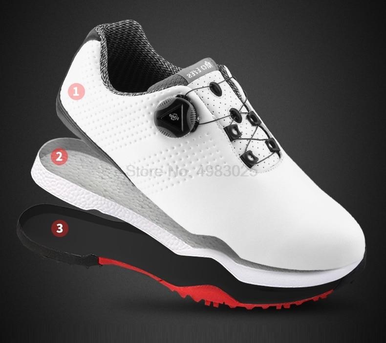 água sapatos de golfe respirável anti-skid spikes