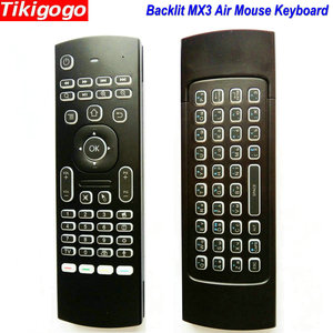 Image 1 - MX3 backlight Voice Air Mouse keyboard Russian English 5 IR Learning keys for Android Smart TV Box pc PK G30 G30s Remote Control