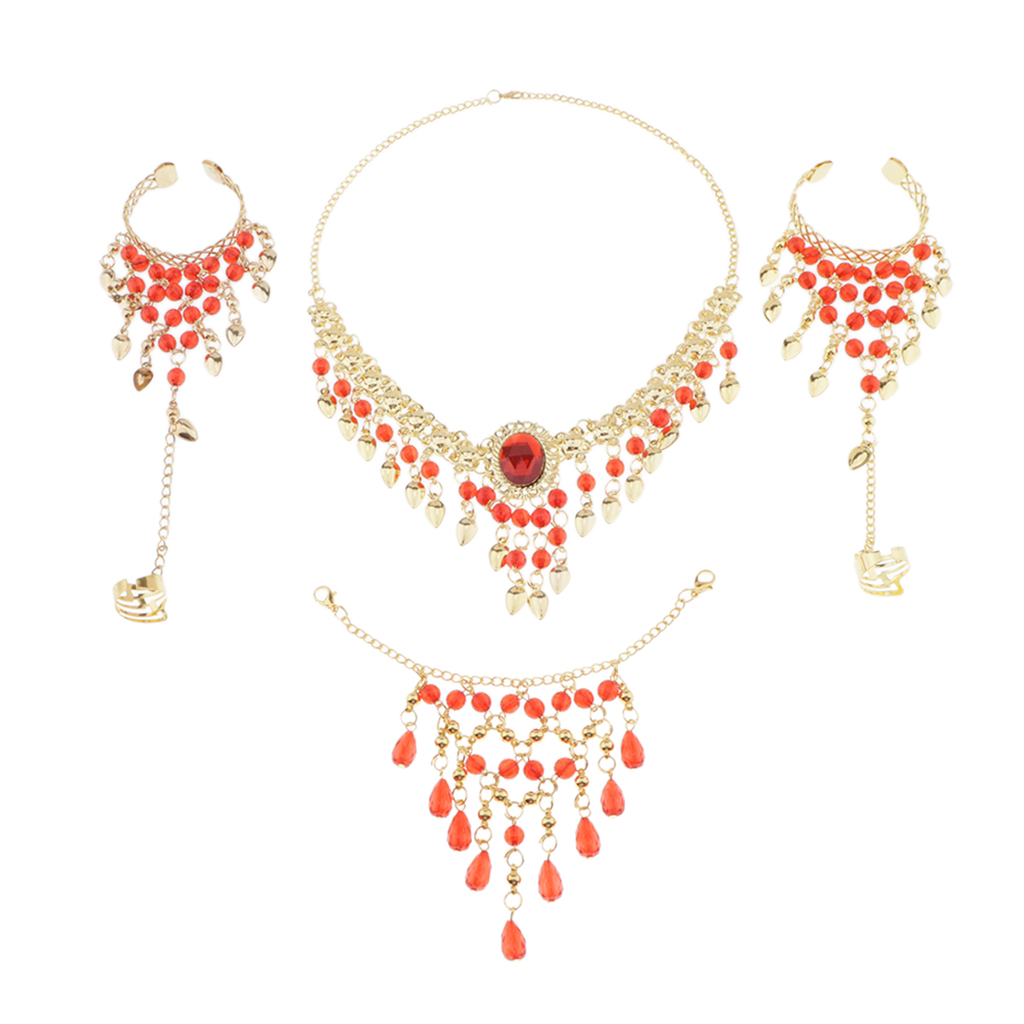Gypsy Belly Dance Jewelry Set Folk Dance Finger Jewelry Dancer Costume Accessories For Adults Kids