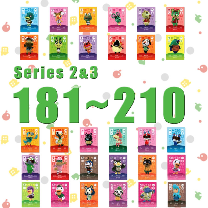Amiibo Animal Crossing New Horizons Amiibo Card Set Work For NS Switch Games Series 2&Series 3 (181 To 210)