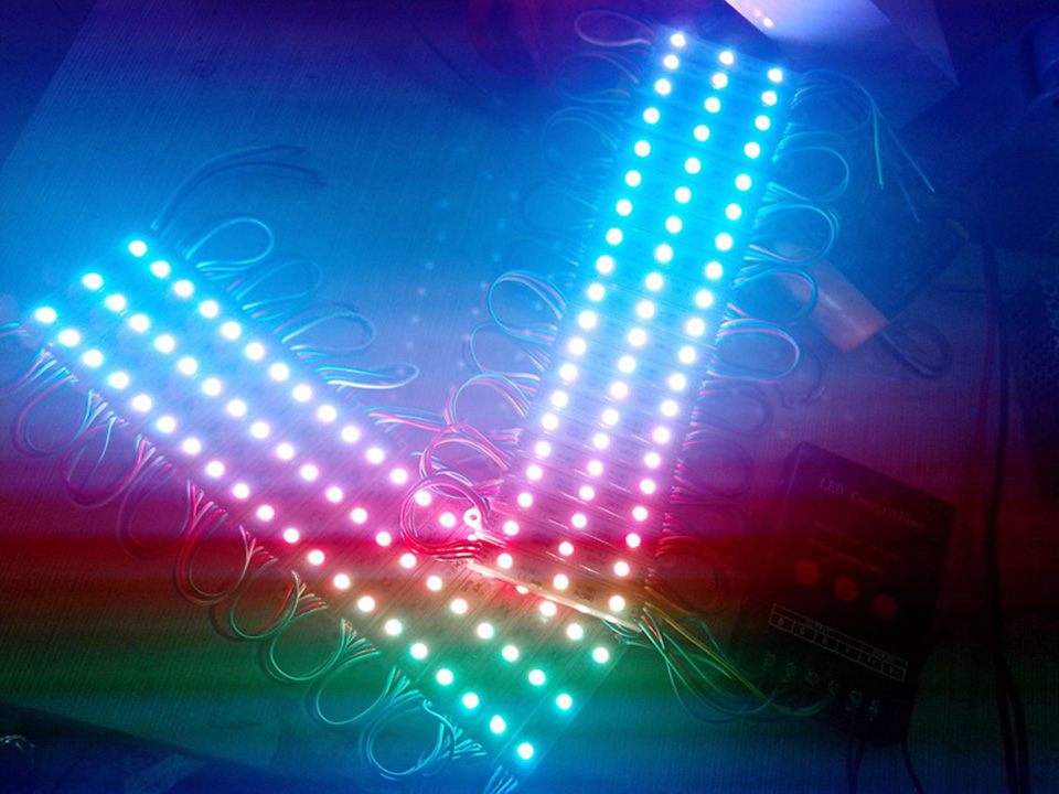 1 pcs 16x16 Pixel WS2812B LED Heatsink chip Digital Individually addressable led module Panel Flexible DIY Display Board DC5V (2)