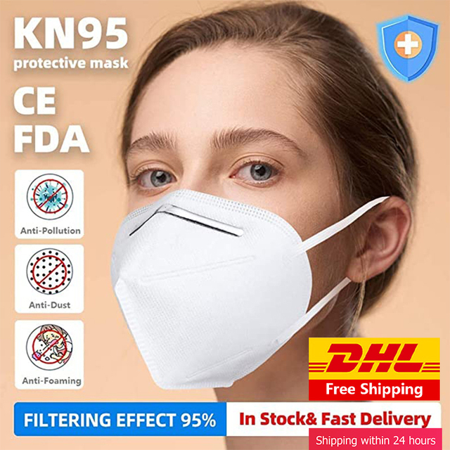 50pcs  ffp2 ffp3 CE FDA KN95 Mask Anti Infection Anti Dust PM2.5 KN95 face masks flu mask filter 95% 4 Layers 3M 9501V Reusable