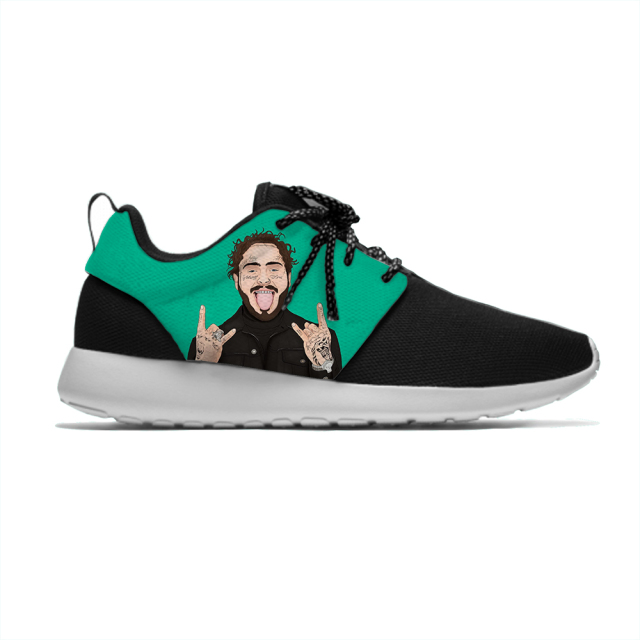Post Malone Cartoon Funny Personality Sport Running Shoes 1