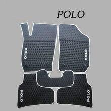Специальные ковры без запаха водонепроницаемые резиновые коврики для автомобиля для Volkswagen POLO 2009- лет и лет Polo